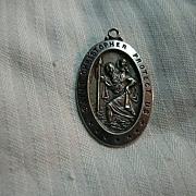 St Christopher Sterling Silver Medal