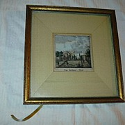 Old Hand Tinted Miniature Landscape Das Berliner Thor Fine Art