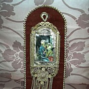 Jeweled Madonna Art Virgin Mary Infant Jesus One Of A Kind