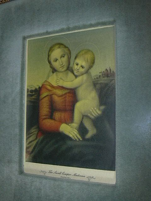 Raphael Madonna & Child Framed Old Religious Print Virgin Mary