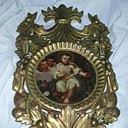 Infant Jesus Religious Art Painting On Canvas Ornate Frame