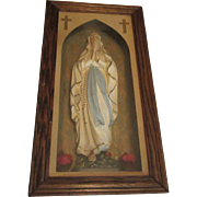Virgin Mary Our Lady Lourdes Sorrows Shadowbox Statue