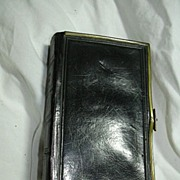 Black Leather Book Of Common Prayer 1857 Brass Clasps Religious Prayer
