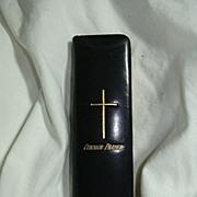 Antique Leather Oxford Finger Book Of Common Prayer Original Slipcase