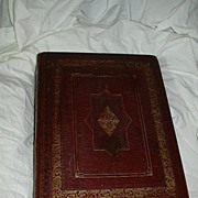 Antique Family Altar Bible 1822 Edinburgh Leather