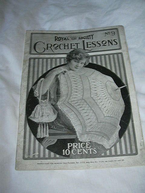 Royal Society Crochet Lessons No 9 Needlework Book 1917