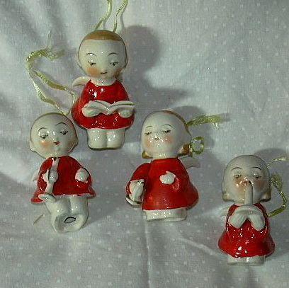 Set 4 Old Japan Angels Original Box Rare Design