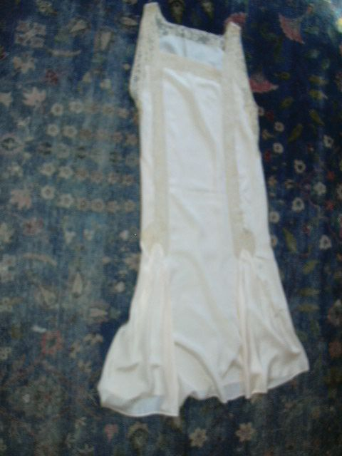 Old Fine Silk Gown With Lace