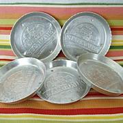SALE Set of Five Stanhome Aluminum Coasters