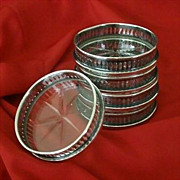 Signed Wilcox Silver Plate Coasters