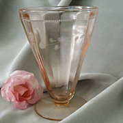 SALE Footed Pink Juice Tumbler Early Mid-Century