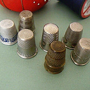 SALE Advertising Thimbles - Undertaker & Prudential