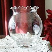 Pretty Ruffled Round Bowl or Vase