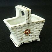 Pico Occupied Japan Tiny Ceramic Basket - 1940's