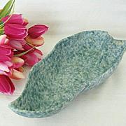 Roseville Pottery Capri Leaf Dish - Signed & Numbered