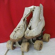 SALE Child's Roller Skates With Wood Wheels By Arrow