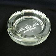 Hilton Hotel Heavy Glass Souvenir Ashtray