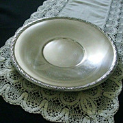 Wallace Silver Plate Serving Platter With Leaf Edge