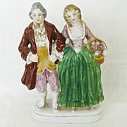 Colonial Couple Figurine - Occupied Japan