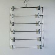 SALE Vintage 6-Skirt Metal Hanger