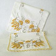 Colorful Hand Embroidered Dresser Scarves