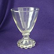 Anchor Hocking Crystal Boopie Wine Glass