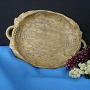 SALE Two-Handled Syroco Style Tray Signed Nifty