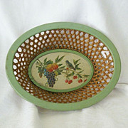 Enameled Basket Made In Occupied West Germany 1940's