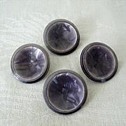 1950s Lavender Plastic Coat Buttons