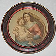 The Sistine Madonna  Circa 1920's Print  Artist Raphael