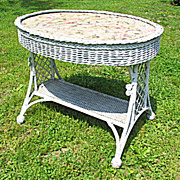 Oval Wicker Bar Harbor Table