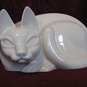 Porcelain Siamese Cat Figure Circa 1940's