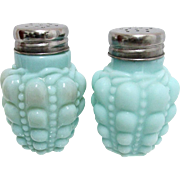 American Glass Salt and Pepper Set Consolidated Lamp and Glass Co. Guttate