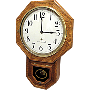 Seth Thomas Tiger Oak Wall Clock