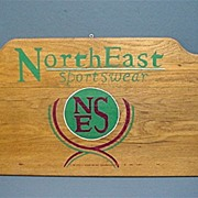 Wood Outdoor Advertising Sign for NorthEast Sportswear