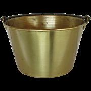 Ansonia Brass Co. 1866 Spun Brass Kettle, Pot, Bucket or Pail