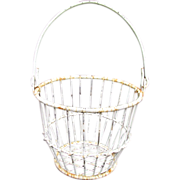 SALE Antique Wire Basket
