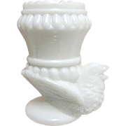 SALE Open Salt or Tooth Pick Holder  Milk Glass Chicken