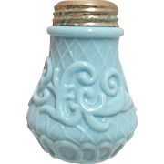 Net and Scroll Antique American Glass Shaker by Dithridge