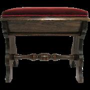 SALE Slipper Stool  American Victorian Footstool