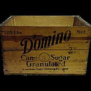 Domino Cane Sugar Wood Advertising Box