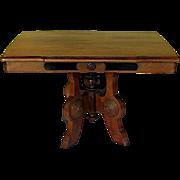Victorian Walnut Eastlake Table Coffee Table Height