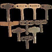SALE 10  Antique Clock Keys Signed