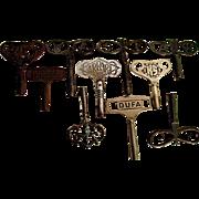 SALE TEN Fancy Antique Clock Keys