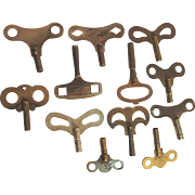 SALE Twelve Antique Clock Keys