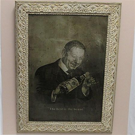 Advertising Tin Sign Garrick Club Old Rye Whiskey