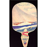 REDUCED TUMS Natures Remedy Advertising  Lithograph Fan
