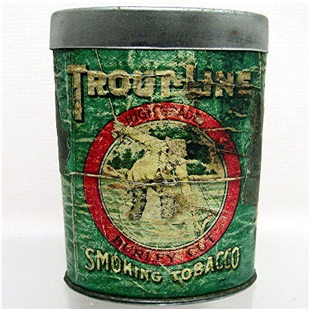 Troutline Tobacco Advertising Tin 50% OFF
