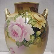 "Nippon Vase  9 1/4"" tall Hand Paint   $179"