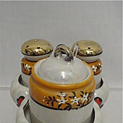 Luster Ware Porcelain Condiment Set
